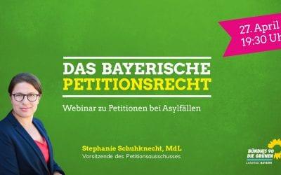 Einladung zum Webinar: Das bayerische Petitionswesen – Petitionen in Asylfällen