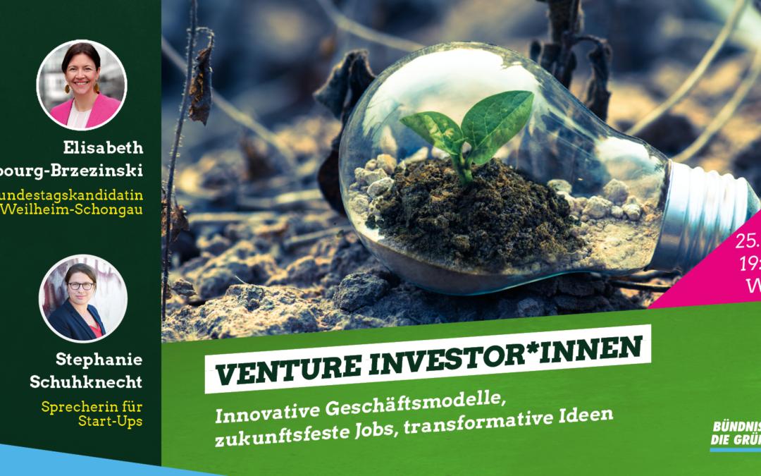 Webinar: Venture Investor*innen
